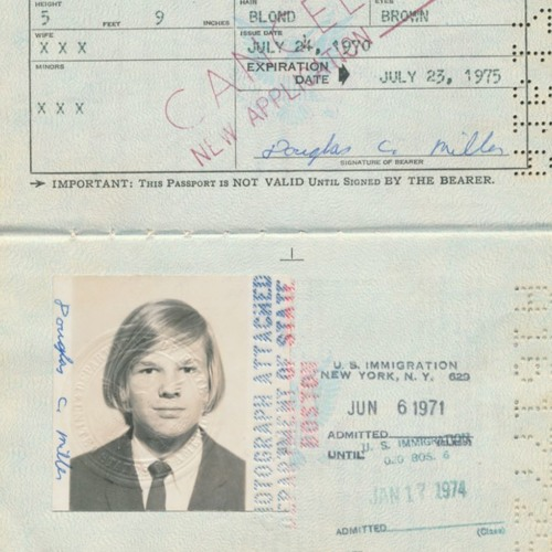 Old photo of a young boys passport