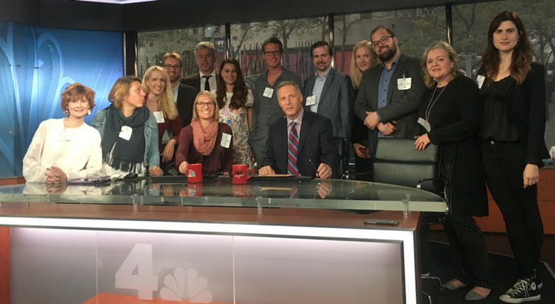 German broadcast journalists taking part in the RIAS Berlin Commission exchange program in the United States in October, 2017